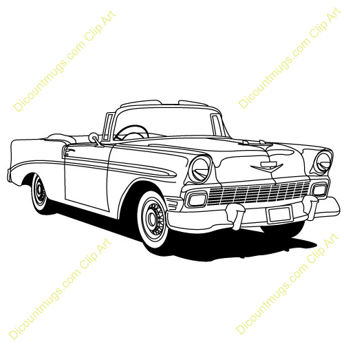500x500 Chevy Classics Car Clip Art Chevy's 55 57 Clip Art