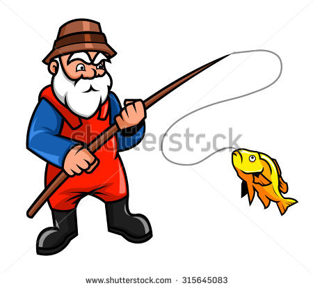 450x414 Fisherman Clipart Old