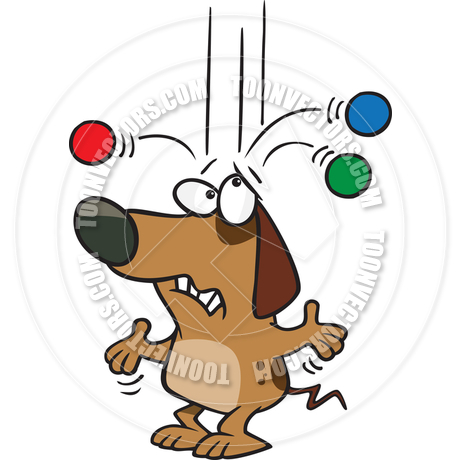 460x460 Cartoon Old Dog Trick By Ron Leishman Toon Vectors Eps