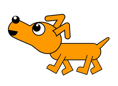 400x292 Clipart Dog Walking
