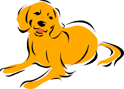 400x288 Golden Retriever Clipart Old