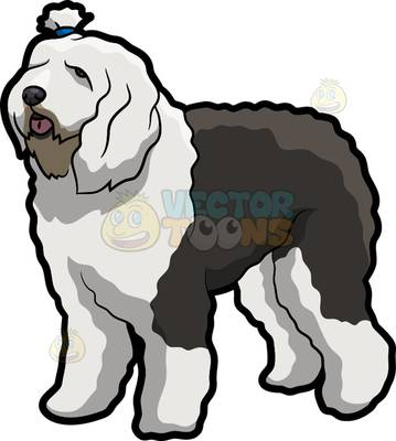 359x400 Old Sheepdog Clipart