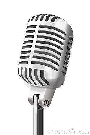 300x450 Retro Microphone Clip Art