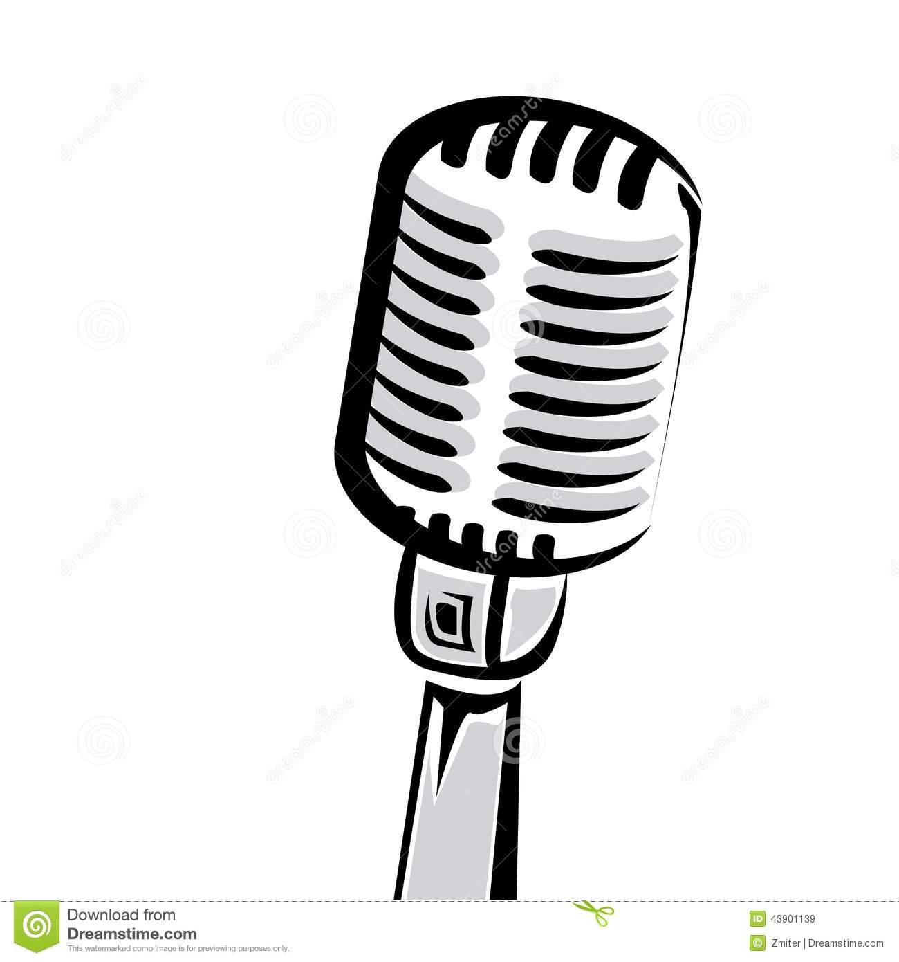 1300x1390 Vintage Mic Silhouette Clipart Of Black