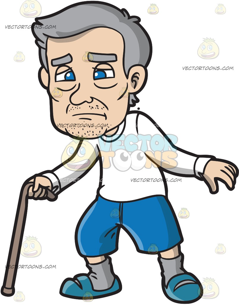 805x1024 An Old Man Looking Lost And Sad Cartoon Clipart