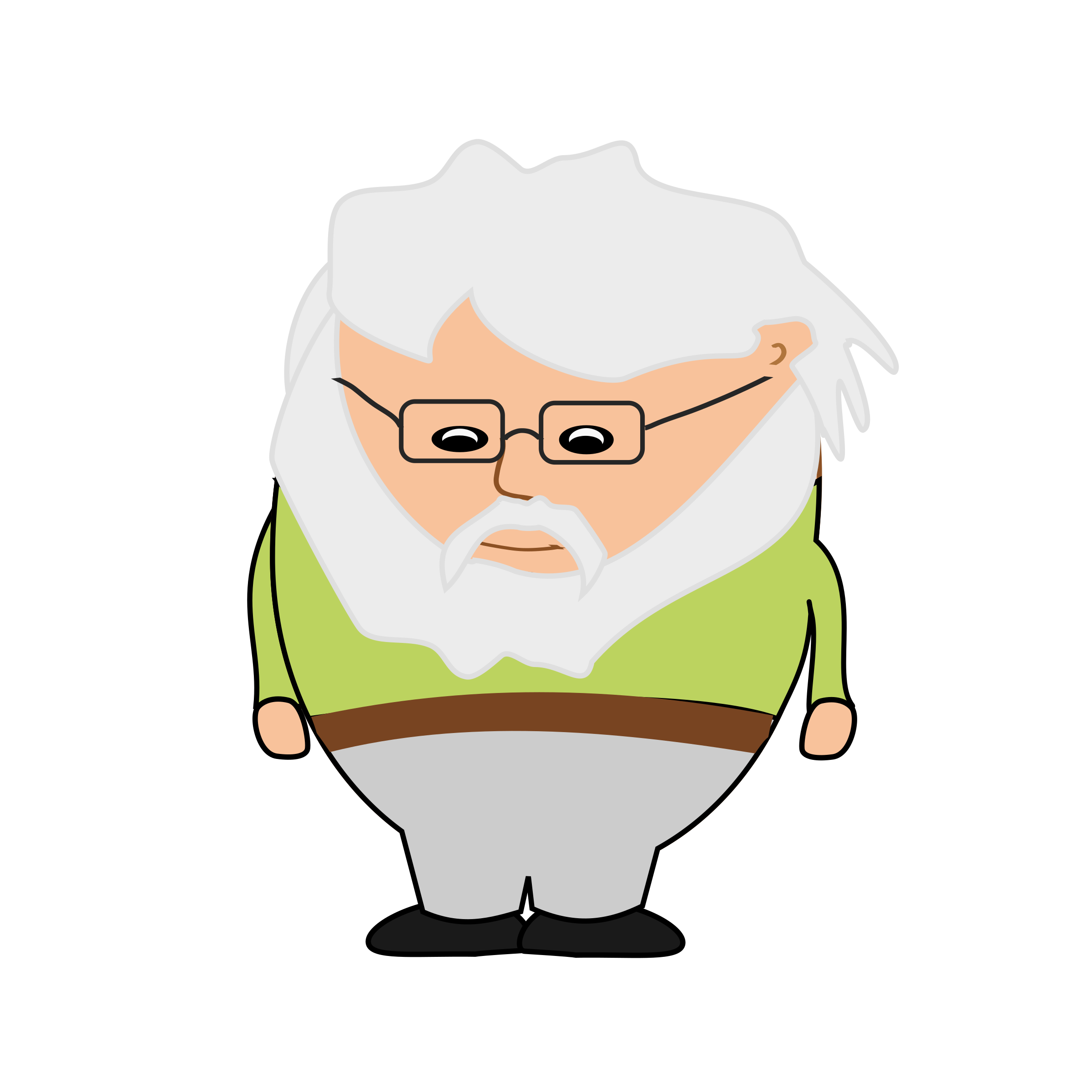 2400x2400 Old Clipart Small Man