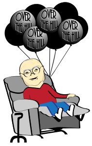 189x299 Over The Hill Old Man Birthday Gifs Clipart