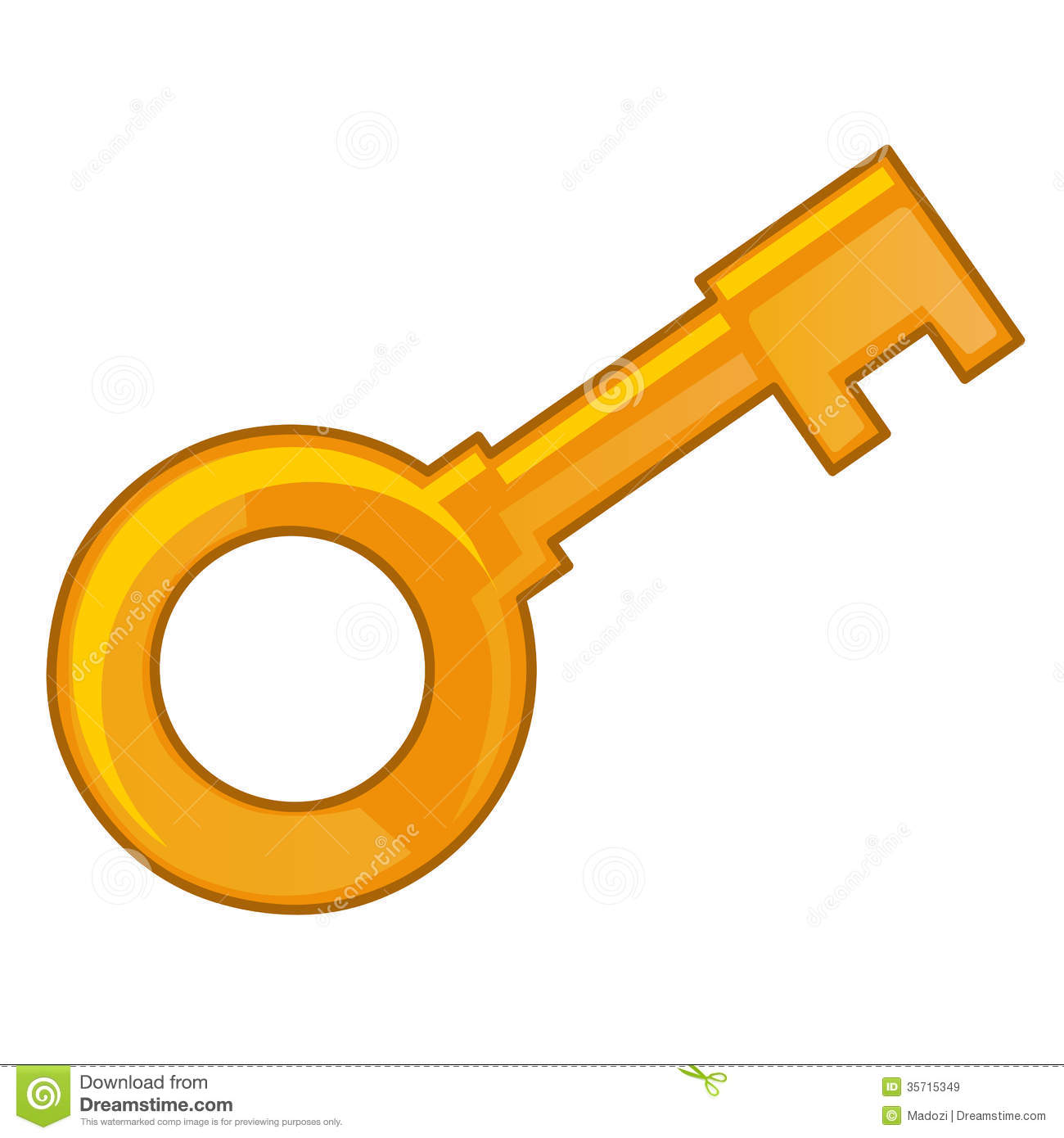 1300x1390 Gold Key Clipart