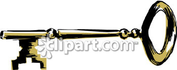 350x139 Old Fashioned Key Clipart