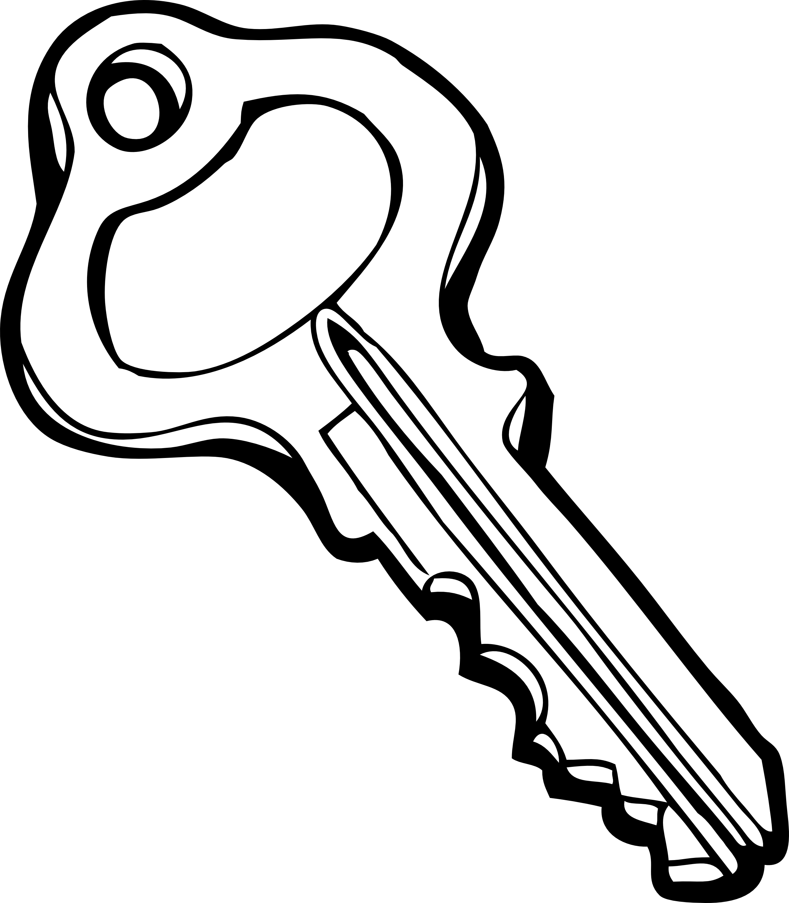 2555x2924 Black Key Clipart