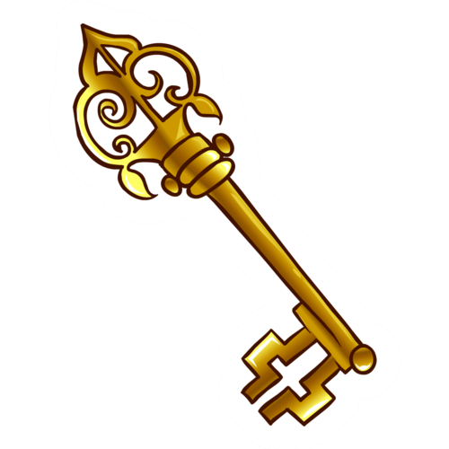 500x500 Cartoon Key Clipart