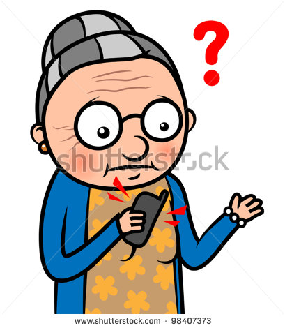 409x470 Confused Old Lady Clipart