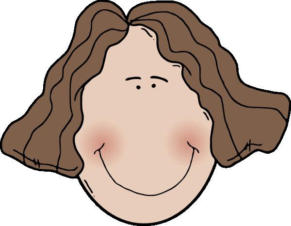 600x466 Lady Face Clip Art
