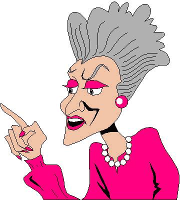 360x400 Gigloqic Old Lady Cartoon Clip Art
