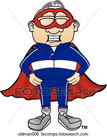 369x470 Stock Illustration Of Old Man Super Hero Oldman006