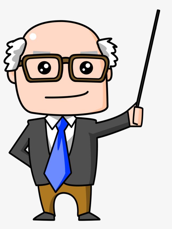 650x868 Cartoon Bald Old Man, Professor, Teacher, Cartoon Bald Old Man