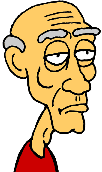 350x590 Little Old Man Clipart
