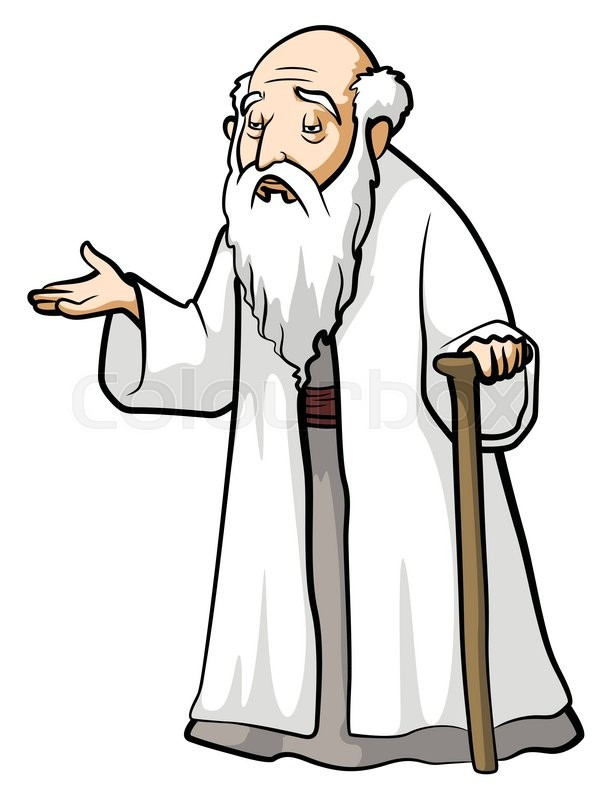 612x800 Old Wise Man Stock Vector Colourbox