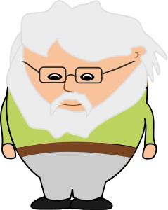 239x300 Old Man Bearded Cartoon