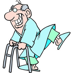 300x300 Old Man With Walker Clipart Clipartfest