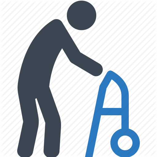 512x512 Life Insurance, Long Term Care, Old Man, Walker Icon Icon Search