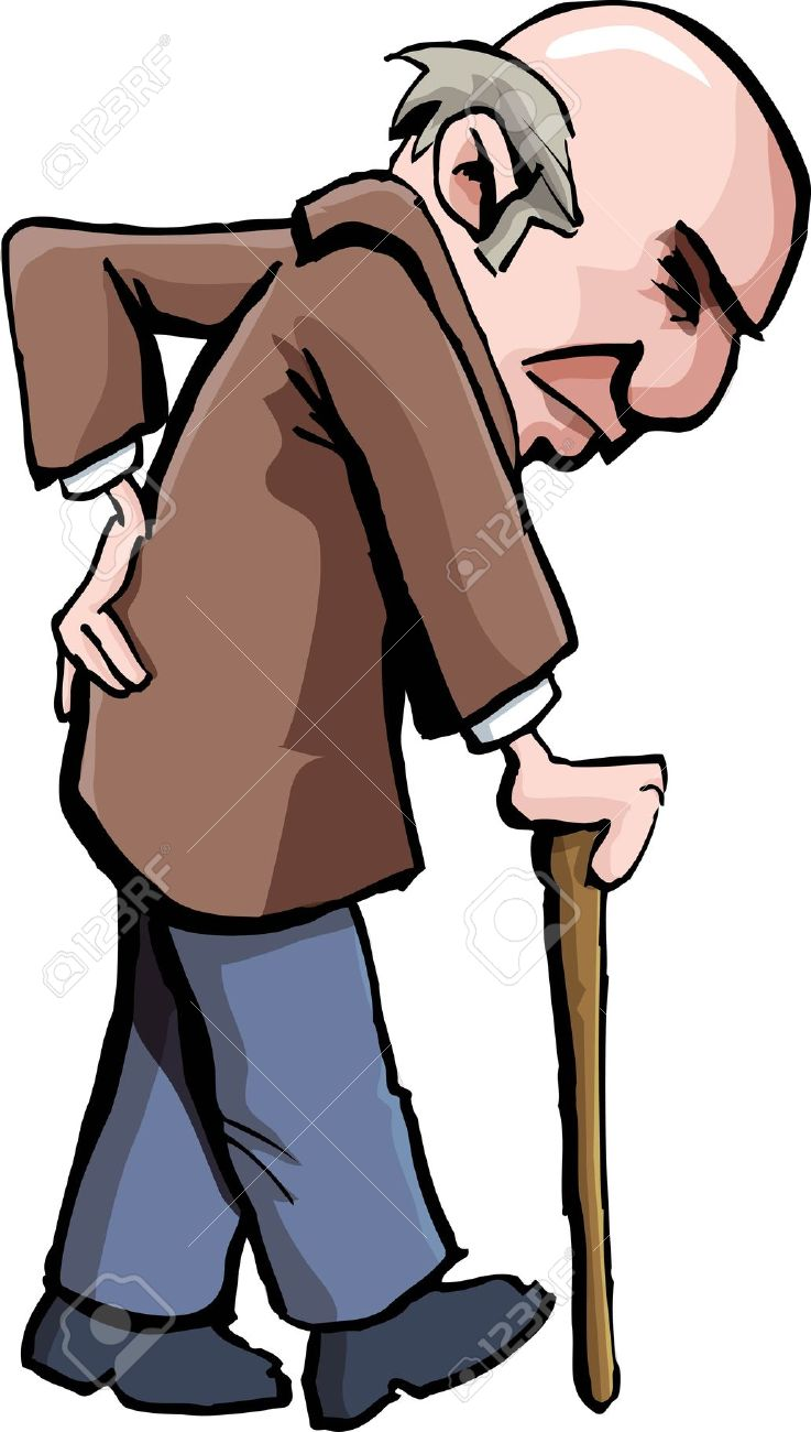 737x1300 Old Man On A Walker Clipart