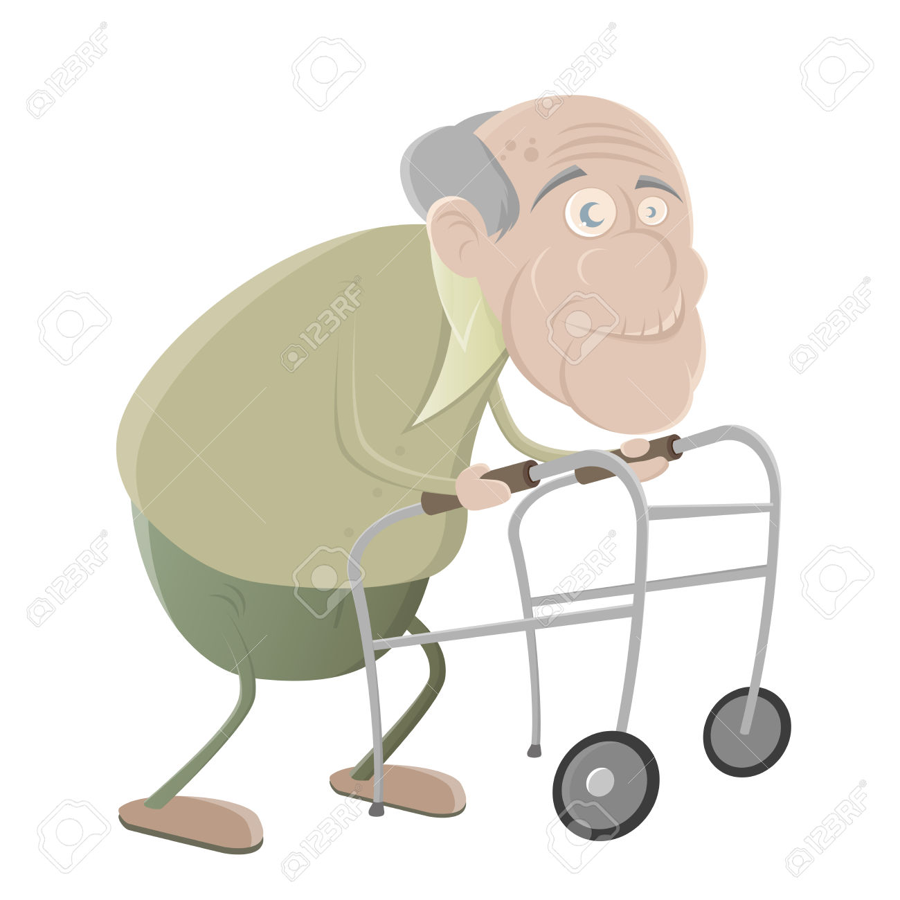 1300x1300 Old People Eith Walker Clipart Collection