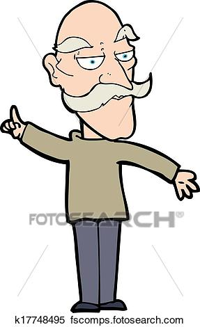 287x470 Clipart Of Cartoon Old Man Telling Story K17748495