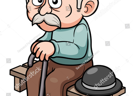 440x320 Old Man In Rocking Chair Cartoon My Site