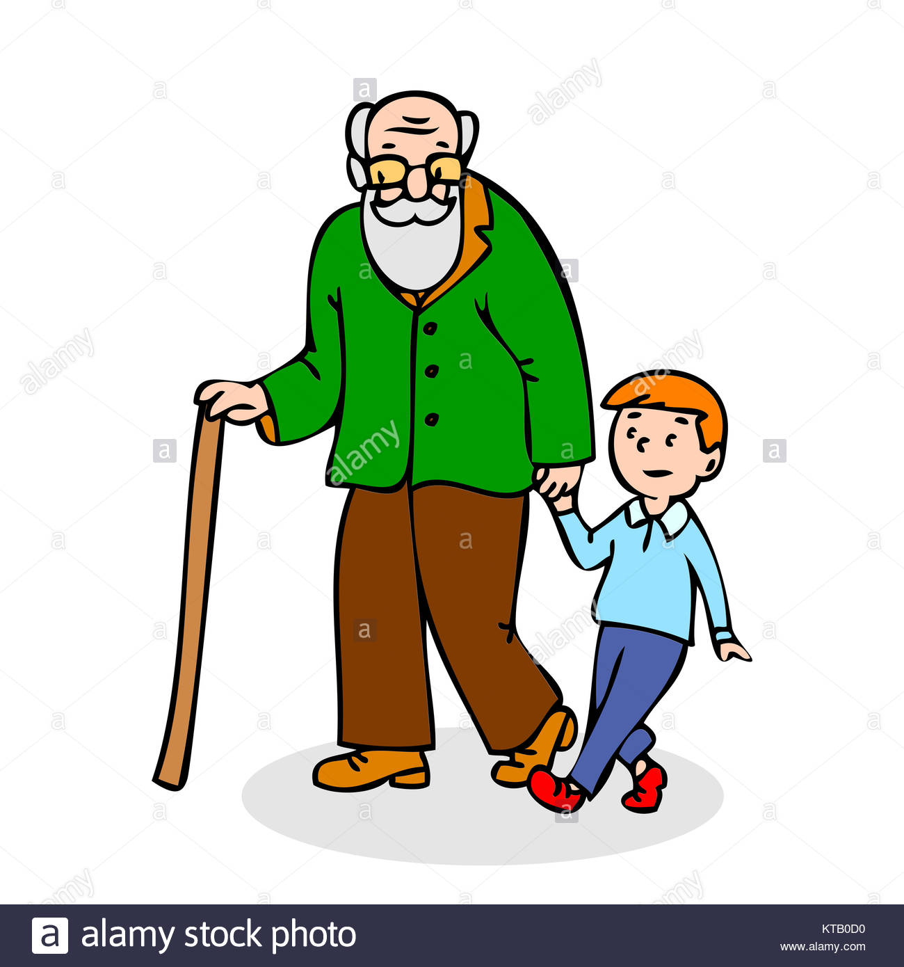 1300x1390 Cartoon Old Man Walking Stick Stock Photos Amp Cartoon Old Man