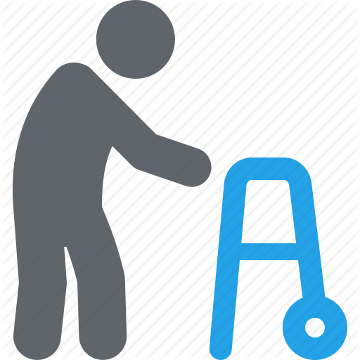 512x512 Geriatrics, Gerontology, Old Man, Walker Icon Icon Search Engine