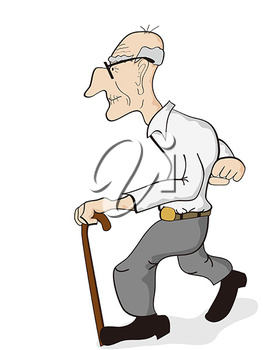 263x350 Old Age Man Clipart