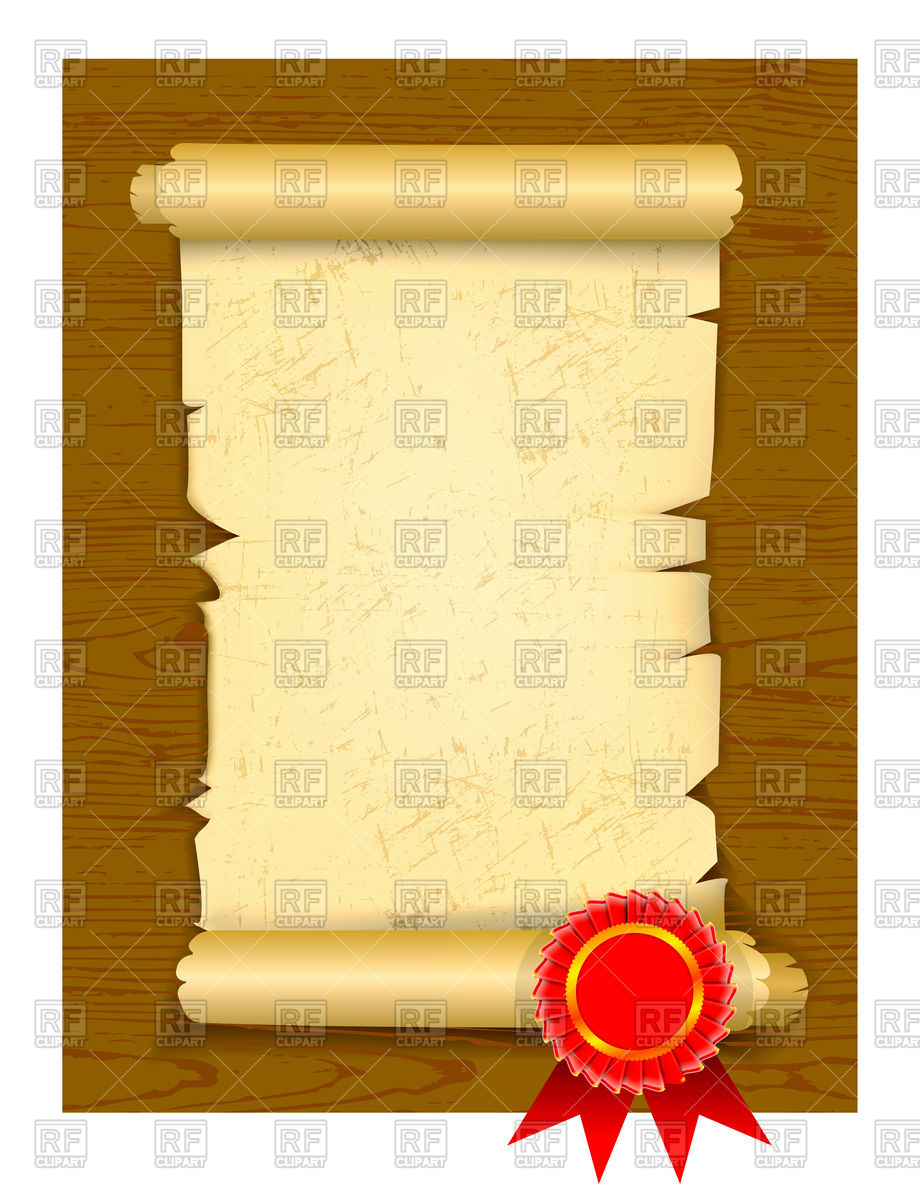 920x1200 Old Manuscript On Wooden Floor With Award Rosette Royalty Free
