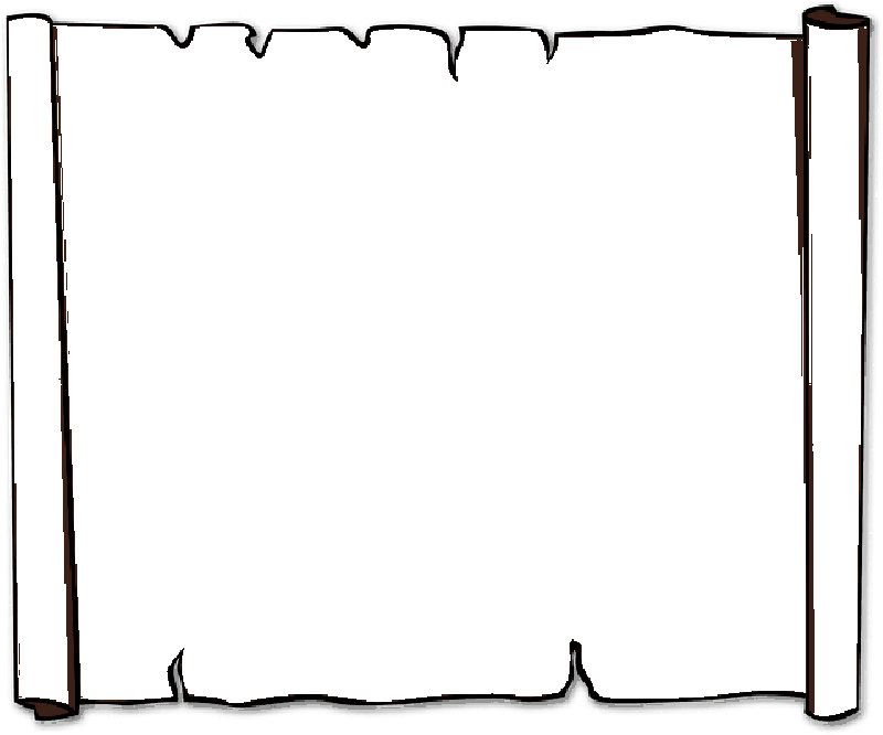 800x666 Paper Scroll Clipart