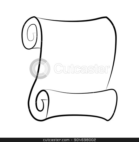 450x461 Right Clipart Rolled Paper