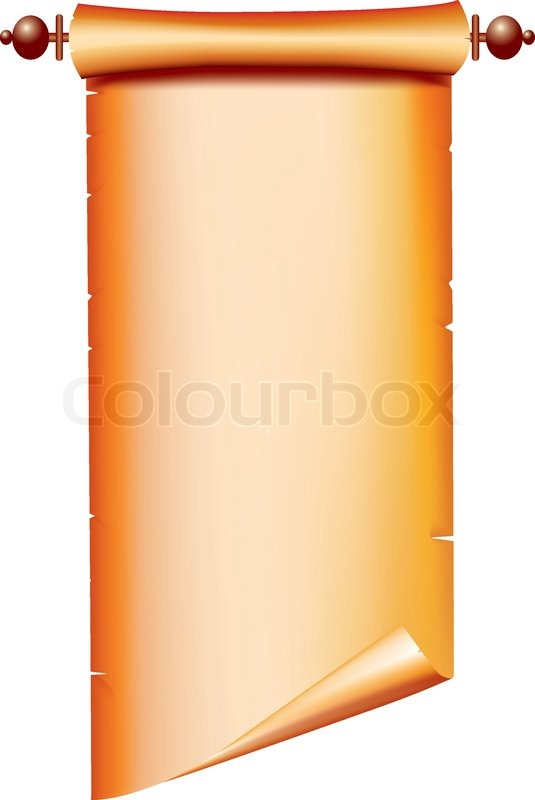 535x800 Old Paper Scroll Vector On White For Text Stock Vector Colourbox