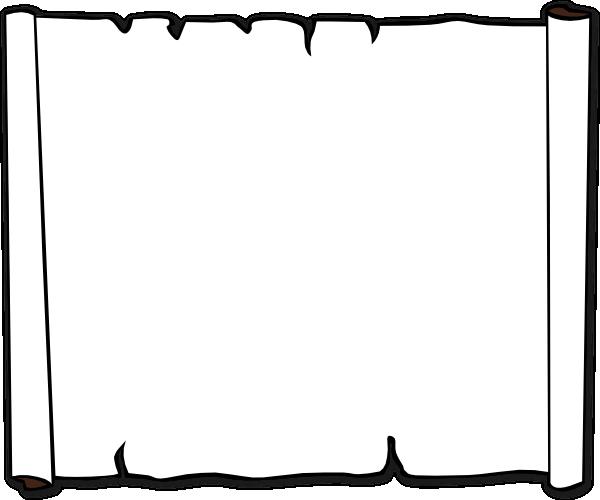 600x500 Parchment Paper Scroll Clip Art