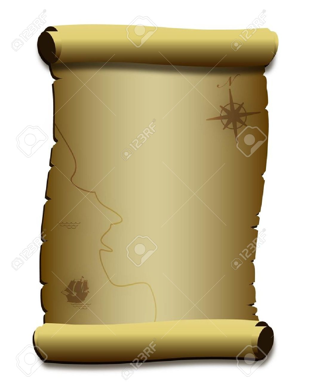 1038x1300 Parchment Paper Scroll Clipart