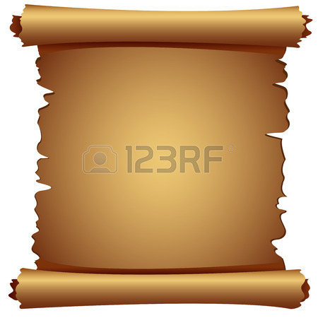 450x450 Ancient Scroll Of Old Paper On A White Background Royalty Free