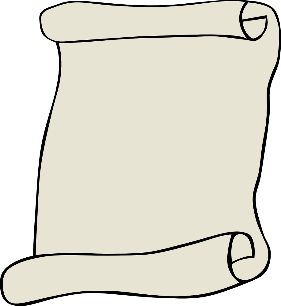 917x1000 Scroll Clipart Rolled Paper