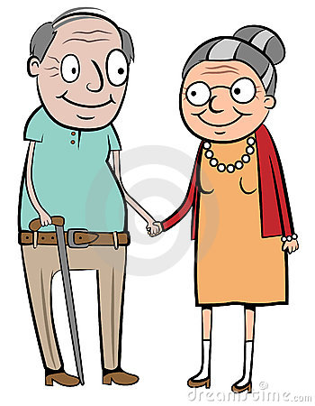 350x450 Old Couple Clipart