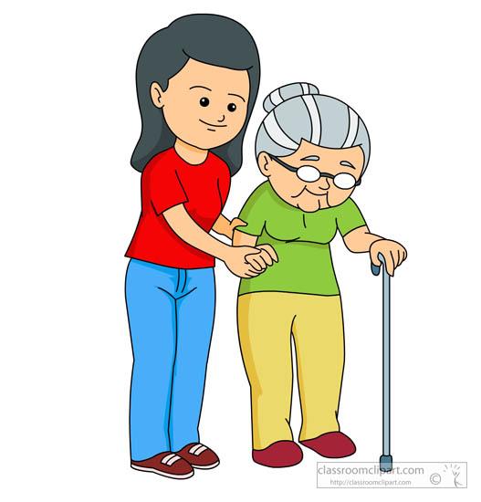 527x550 Helping Elderly Clip Art Clipart