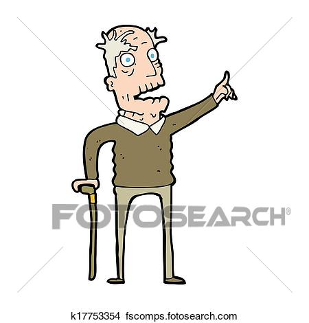450x470 Drawings Of Cartoon Old Man With Walking Stick K17753354