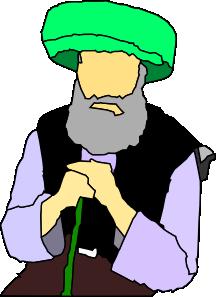 216x297 Sitting Sheikh Elderly Person Clip Art