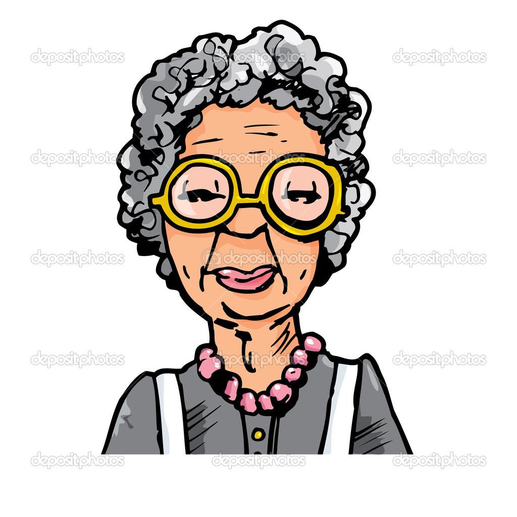 1024x1024 60 Years Old Woman Cartoon