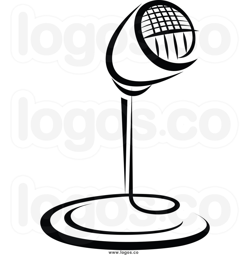 Line Art Microphone : Old radio clipart free download best