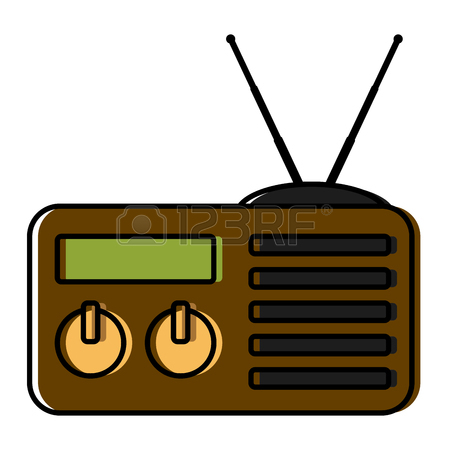 450x450 Old Radio Stereo Icon Vector Illustration Graphic Design Royalty