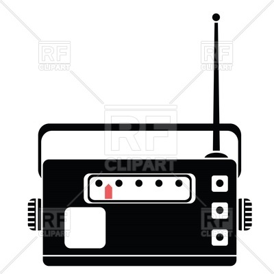 400x400 Silhouette Of Old Radio Tuner Royalty Free Vector Clip Art Image