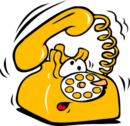 425x415 Old Telephone Clipart