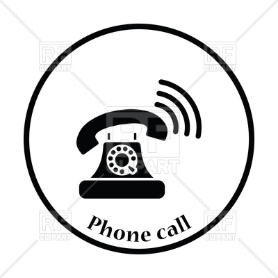 400x400 Black Old Telephone Icon